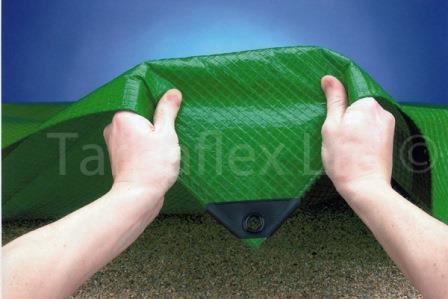 Waterproof Tarpaulin Green Mid Grade Tarp Temporary Cover