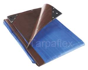 Great For Log Stores Green Brown Heavy Duty Tarpaulin 250gsm