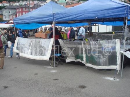Pvc Tarpaulin Glass Clear Market Stall Side Sheet